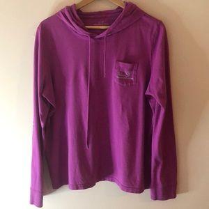 Vineyard Vines purple pocket top hoodie XL